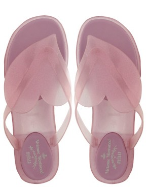 Image 3 of Vivienne Westwood Anglomania For Melissa Flip Flops With Glitter Heart