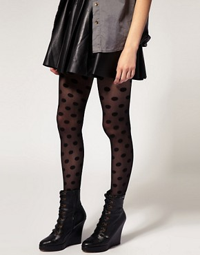Image 1 of ASOS Spot and Sheer Tights