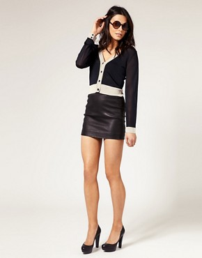 Image 1 of muubaa Stretch Leather Skirt