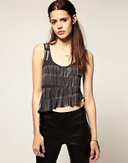 Blackheart 'Spoiled' Chainmail Fringed Top