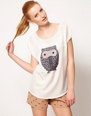 Oasis Owl Front T-Shirt