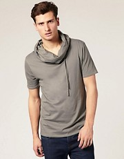 ASOS - T-shirt à col bénitier avec cordon