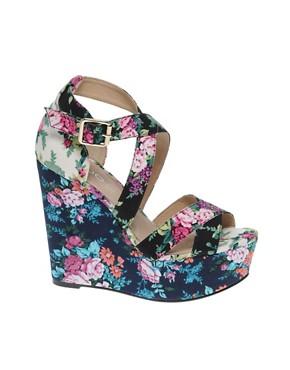 Image 1 ofALDO Rinks Floral Wedge Sandals