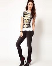 Vivienne Westwood Anglomania For Lee Monroe Jegging Jeans In Grey With Studded Orb Back Pocket