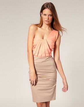 Image 1 ofASOS SALON One shoulder Cocktail Dress