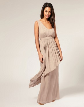 Image 1 of ASOS Techno Boheme Pleated Maxi Dress