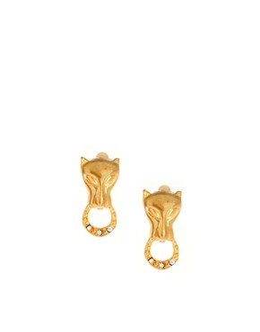 Image 1 of Susan Caplan Exclusive For ASOS Vintage 90s Panther Clip Earrings
