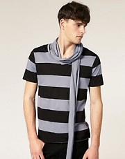 ASOS - T-shirt rayé avec écharpe