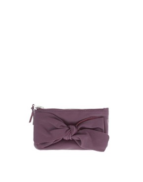Image 1 of And Mary Bright Leather Bow Purse
