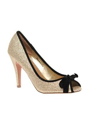 Image 1 ofKG by Kurt Geiger Jiffy Glitter Peep Toe Shoes