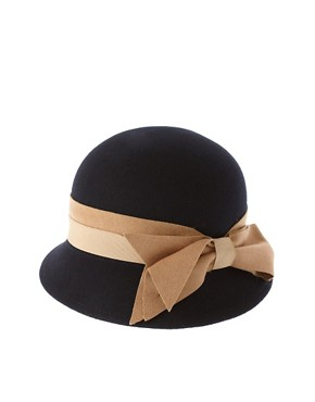 Image 2 of River Island Cloche Hat With Bow