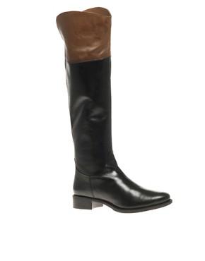 Image 1 ofASOS COCO Leather Riding Boot