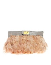 ASOS Nude Feather Clutch