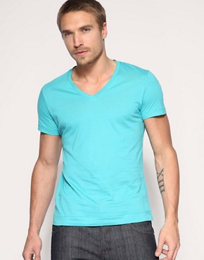 HE by Mango V-Neck T-Shirt