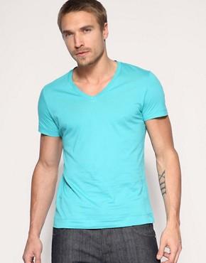 HE by Mango V-Neck T-Shirt