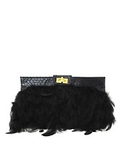 ASOS Feather Clutch Bag