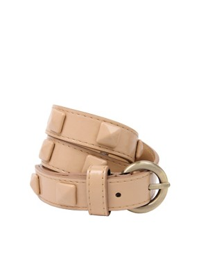 Image 1 of ASOS Covered Stud Skinny Belt
