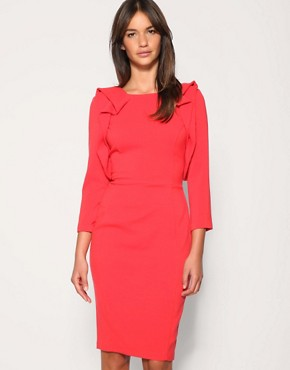 Image 1 of ASOS Tailored Ruffle Front Pencil Dress