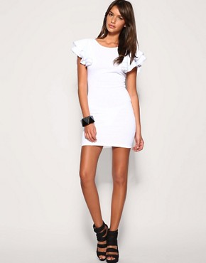 Image 4 of ASOS Frill Sleeve Body-Conscious Dress