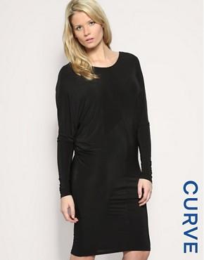 Image 1 ofASOS CURVE V-Back Jersey Dress
