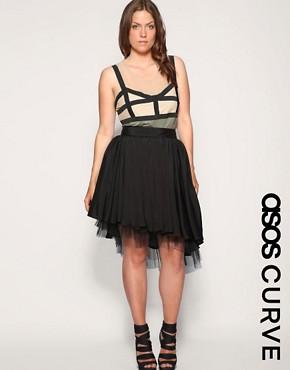 Image 1 ofASOS CURVE Asymmetric Hem Tutu Skirt