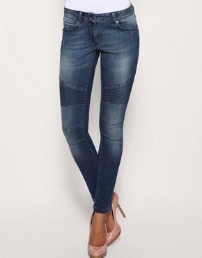 Image 1 ofASOS Biker Knee Skinny Jeans