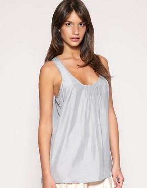Image 1 ofASOS BLACK Silk Vest
