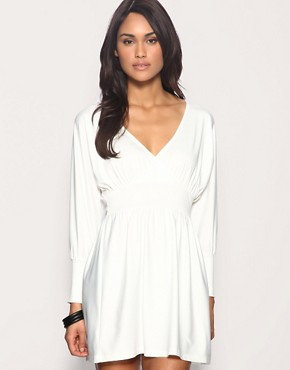 Image 1 of ASOS Crepe Deep V Dress