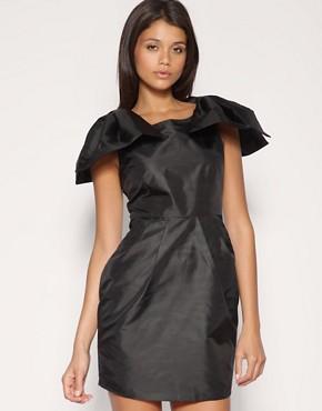 Image 1 ofASOS Massive Bow Shoulder Dress