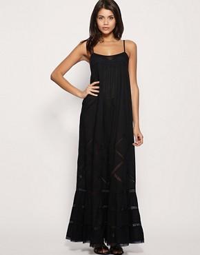 Image 1 ofASOS Premium Vintage Trim Cutwork Maxi Dress