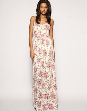 Image 1 of ASOS Floral Tie Waist Maxi Dress