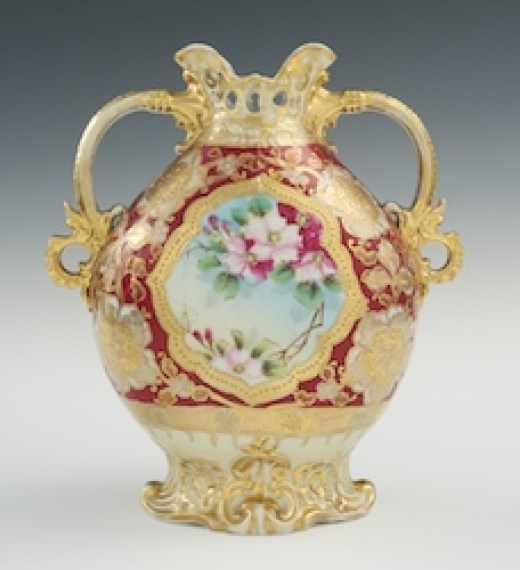 A 19th Century Nippon Moriage Vase