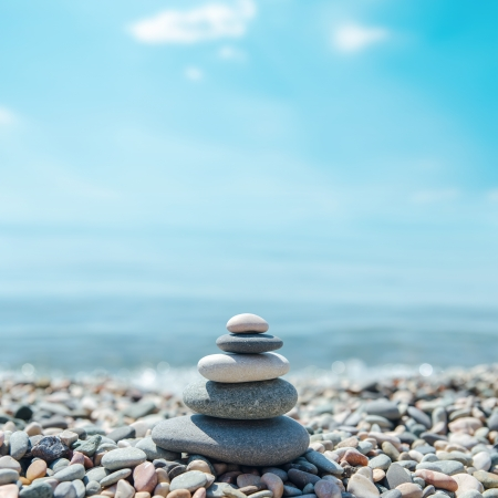 Zen Like Stones On Beach Royalty Free Images Photos And Pictures