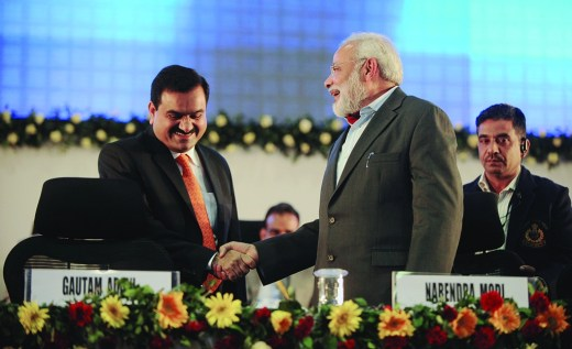 File photo of Prime Minister Narendra Modi with billionaire businessman Gautam Adani
