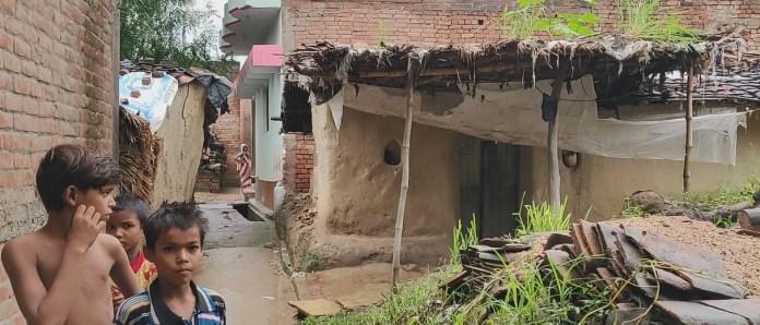 A view of the Harijan basti in Sarai Akil, Kaushambi