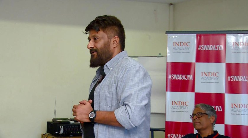 Vivek Agnihotri speaking on the politics of story telling in Hindi cinemas