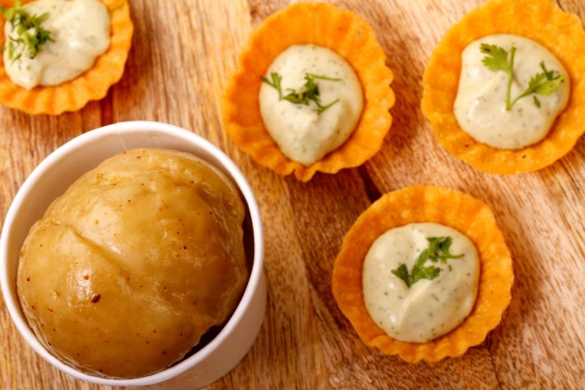 """The pani puri version of the sorbet delivers a super sweet-and-sour kick. (Photo Courtesy: <a href=""""http://www.whatshot.in/mumbai/trend-watch-ice-creams-with-a-twist-c-2150"""">whatshot.in</a>)"""