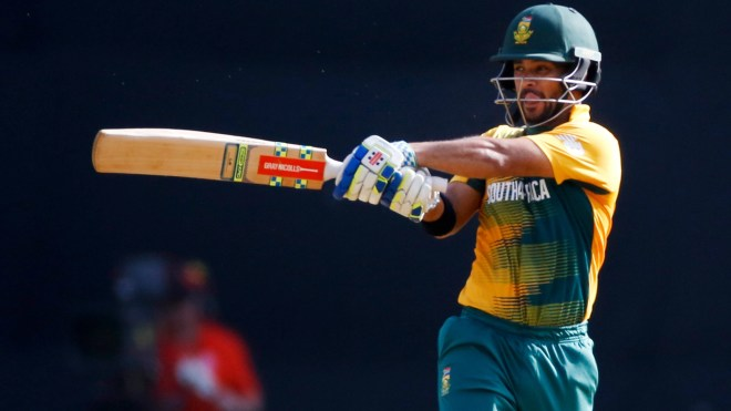 Jean-Paul Duminy's tally of sixteen sixes in ten matches is the highest in T20Is involving India and South Africa.