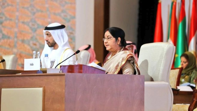 EAM Sushma Swaraj attended the inaugural plenary session of the two-day OIC meeting on Friday, 1 March.