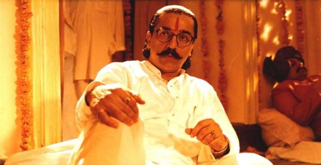 Kamal Haasan as Saket in <i>Hey Ram.</i>