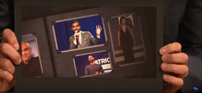 Hasan Minhaj's picture was used during the 'Howdy Modi' event.