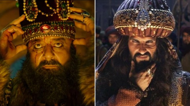 Sanjay Dutt as Ahmad Shah Abdali and Ranveer Singh as Alauddin Khilji.