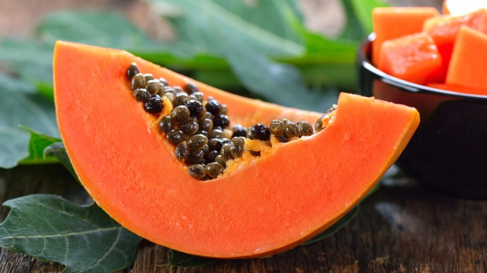 Papaya contains papain which is excellent for the skin.