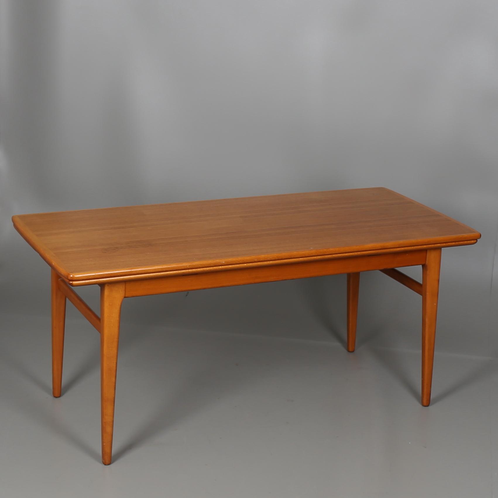 Soffbord I Teak Hoj Och Sankbart 1900 Talets Mitt Mobler Bord Auctionet
