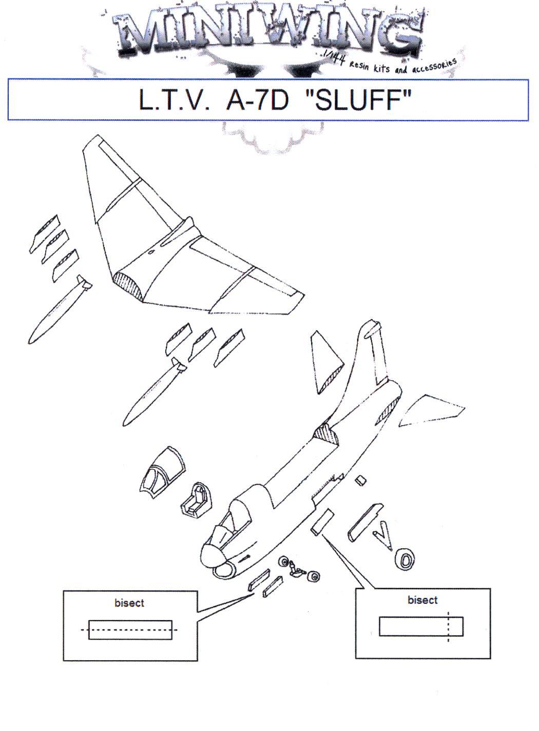 Miniwing Models 1 144 L T V A 7d Corsair Ii Sluf