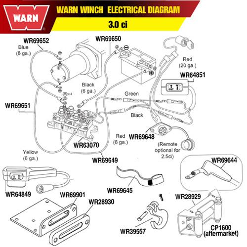 Warn winch parts on