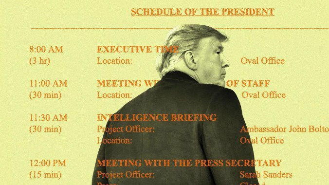 Trump schedule illustration