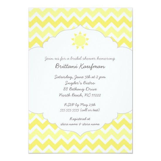 My Sunshine Baby Bridal Shower Invite