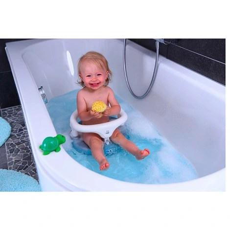 siege de bain blanc gris argente