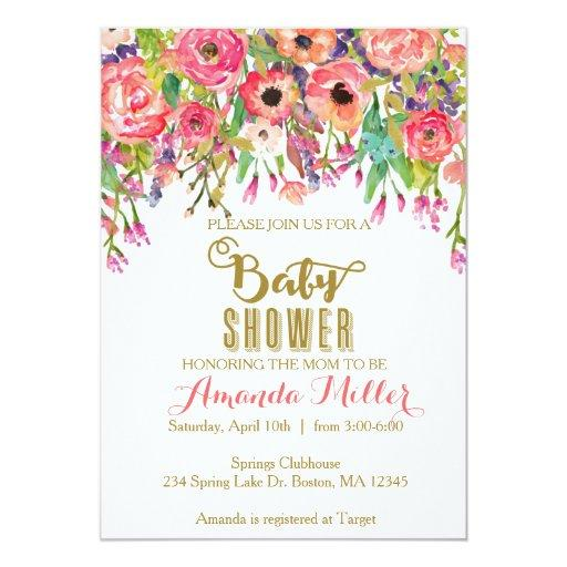 Floral Shower Invitations